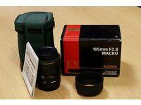 Sigma 105mm EX Macro f2.8 for Canon Mount