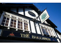 Full Time Bartender/ Waiter - Up to £7.20 per hour - Live Out - The Hollybush - Loughton - Essex