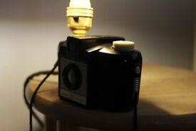 Kodak Brownie 127 camera Vintage steampunk made into a lamp