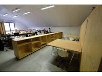All inclusive studio/desks Hackney Beautiful, light, open plan railway arch, secure mews community