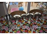 These are stainless steel Stellar pans.
