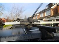 Genuine locking Volvo Aluminium bike cycle bicycle carrier x 2 including including Volvo roof rack