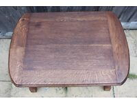 Vintage solid oak small side / end table