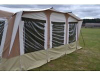 Trigano Olympe GL with Kitchen, annex, Sun Canope, additional pod - Trailer Tent