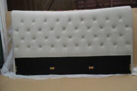 Birlea Bed Parts, Copenhagen warm stone velvet 180cm king size.