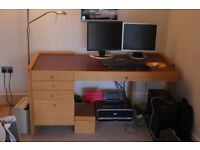 Office desk with drawers 160cm x 80cm