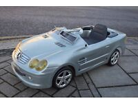 Vintage Mercedes SL 6v Electric Pedal Car *** STORED MANY YEARS *** Collectable Item ***