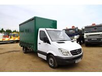2007 57 PLATE MERCEDES SPRINTER 311 CDI LWB CURTAIN SIDER FOR SALE FORD TRANSIT LUTON BOX RECOVERY