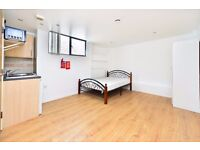 CHALK FARM RD NW1: STUDIO, AVAILABLE NOW, FURNISHED, GAS AND CENTRAL HEATING FIXED AT £60 PER MONTH
