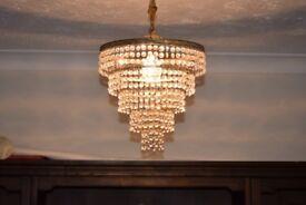 CHANDELIER FOR SALE Gold coloured chandelier for sale Falkirk area