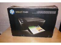 HP Deskjet F2480 Printer Print, Copier Scanner and fax machine windows 7 10 in box not used