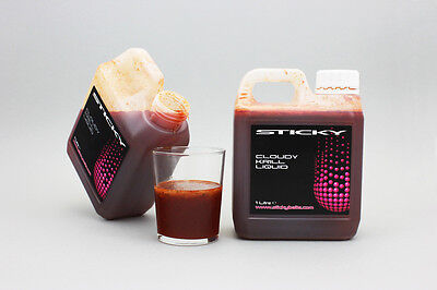 Sticky Baits The Krill Cloudy Liquid Attractant 1ltr Bottle NEW Carp Fishing