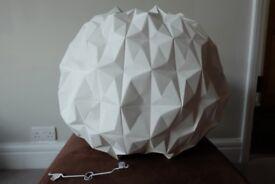 Beautiful White Card Origami Lampshade