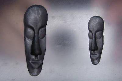 Tribal Face Graphite Glass Lampwork Push Mold 2-in-1