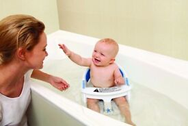 Dreambaby Super Comfy Bath Seat; barely used; white colour; throwaway price £5; excellent condition