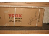 York 2 in 1 barbell and ab / w curl fitness bench