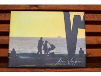 "Unique photo canvas picture 30cm x 40cm ""A walk by the sea"""