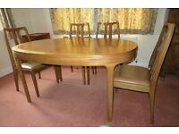 Nathan Teak oval dining table