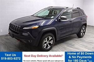 2016 Jeep Cherokee TRAILHAWK 4WD! PARTIAL LEATHER! ADJUSTABLE SU