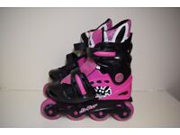 Kids rollerblades, size 10-13 extandable.