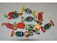 Set of TEN (10) Glass Novelty Hand Crafted Sweets