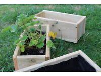 Wood planter, raised bed, flower bed, herb planter, vegetable planter