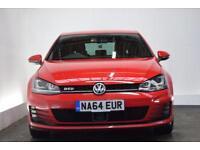 VOLKSWAGEN GOLF 2.0 GTD DSG 5d AUTO 182 BHP (red) 2014