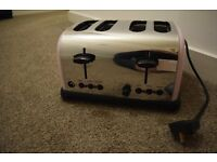 4 slice toaster pink