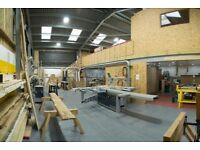 shared woodworking workshop space, felder machinery, tea room, parking, FURNITURE MAKER SPACE