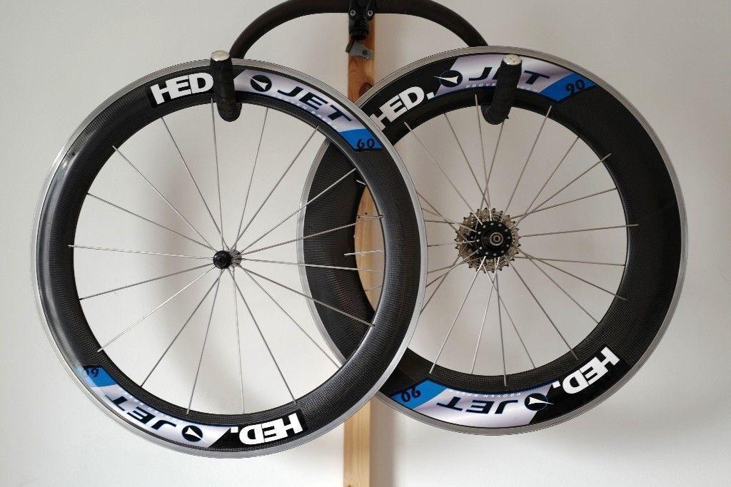 HED JET 60 Carbon Clincher Wheelset 650c Shimano Front Back Pair wheels Corima Zipp £300