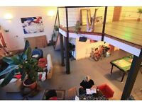 Double Room, Large Open Plan Warehouse Conversion, Creative Community