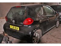 toyota Aygo, Colour black, 2006 year, Breaking and selling for parts