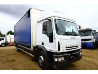 2006 IVECO EUROCARGO 18E24 4X2 CURTAIN SIDER BOX TRUCK FOR SALE EXPORT NIGERIA LAGOS TIPEPR DAF MAN