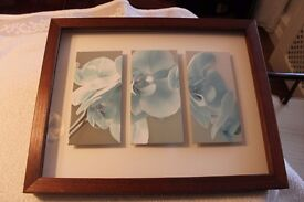 Picture 3D Turquoise 19 ins x 15 ins Very Good Condition £5