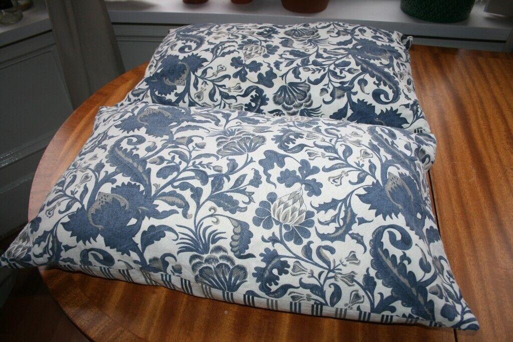 2 x ikea cushions pillows blue living room bedroom house