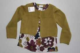 New 2 piece set (top and cardigan) for girl age 3 -4