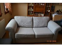 2 seater sofa (sofa bed) and matching chair