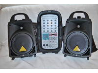 Behringer Europort EPA300w portable PA system.
