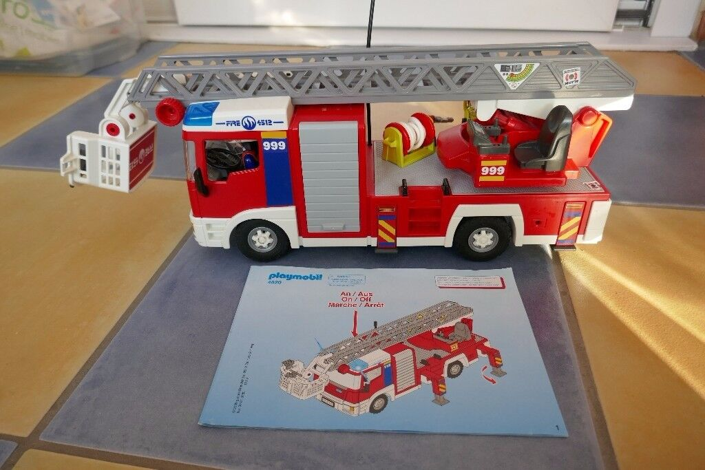 PLAYMOBIL 4820 Fire Engine, 4320 Remote Control and 4822 Fire Chief's Car