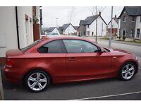 BMW 1 Series Coupe 123d (204 bhp) Sedona Red Matching Interior Idrive/DAB radio