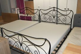 NICE METAL ORNATED DOUBLE BEDS X 2 WITH MATRESSES!!!!