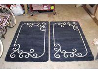 2x rug nice dark blue colour
