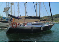 30 ft Sailing Yacht Moored on the Italian Riviera (very well maintained boat, ready to go cruising)