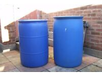 TAKEN SUBJECT TO COLLECTION MON PM 55 GALLON PLASTIC DRUMS X 2 FREE