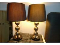pair of black mosaic Table Lamps
