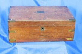 Antique slope writing box