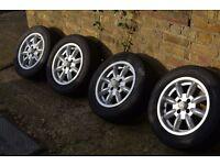 KN Minator Wheels 14x5.5 Spitfire, Herald, Vitesse, Lotus Elan