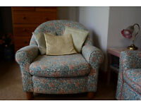 Sofa bed with armchair. Very comfortable, and in great condition.
