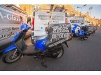 Window Cleaner Vacancy - Moped Rider in London