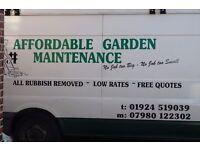 Affordable Garden Maintenance in Dewsbury, Mirfield, Morley, Batley, Cleckheaton + Surrounding areas